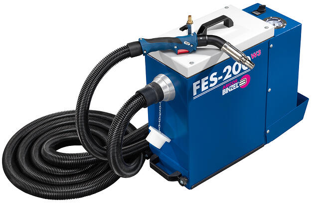 Example of portable fume extraction unit