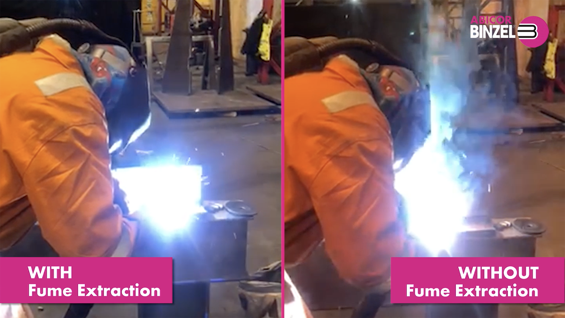 With Fume Extraction v Without Fume Extraction